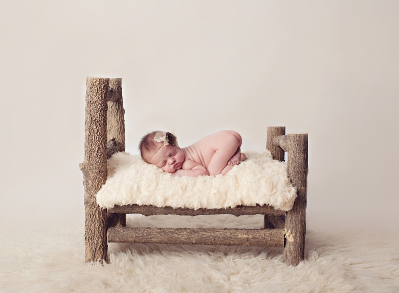 wooden newborn bed